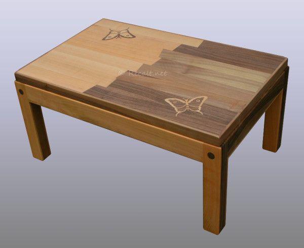 Table Basse Papillons Recalt Jean Marc Peinture Table Basse Table Mobilier De Salon