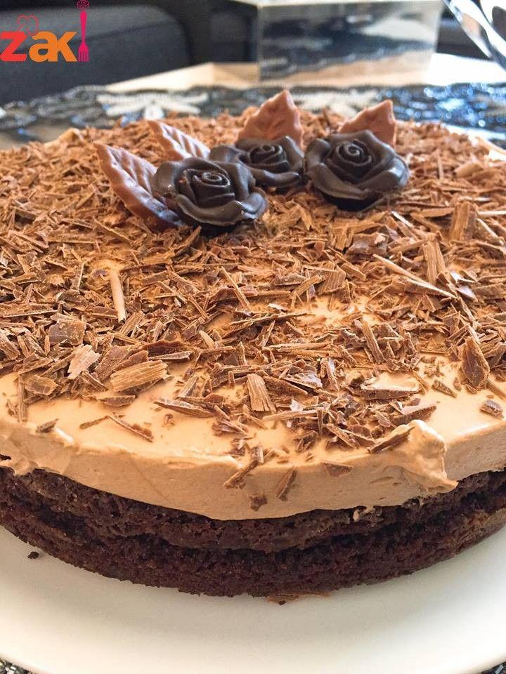 تشيز كيك النوتيلا حاجة فوق الوصف وين محبي الشوكولاتة يجووو زاكي Desserts Food Cake