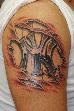 new york yankees tattoos tattoo tatting and tatt. Black Bedroom Furniture Sets. Home Design Ideas