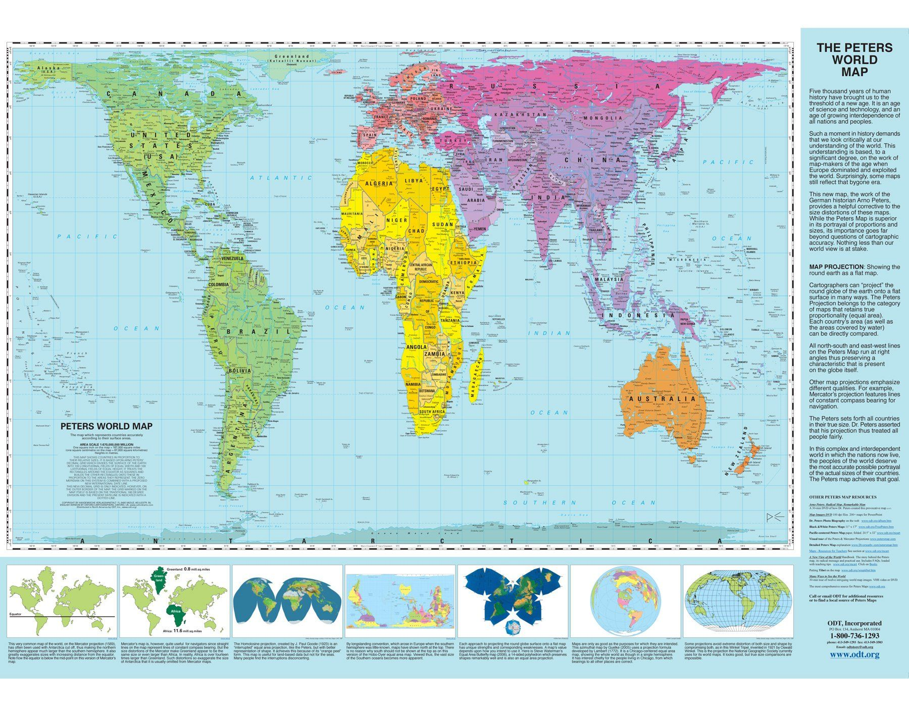 Peters projection world map laminated arno peters odtmaps peters projection world map laminated arno peters odtmaps oxford cartographers gumiabroncs Images