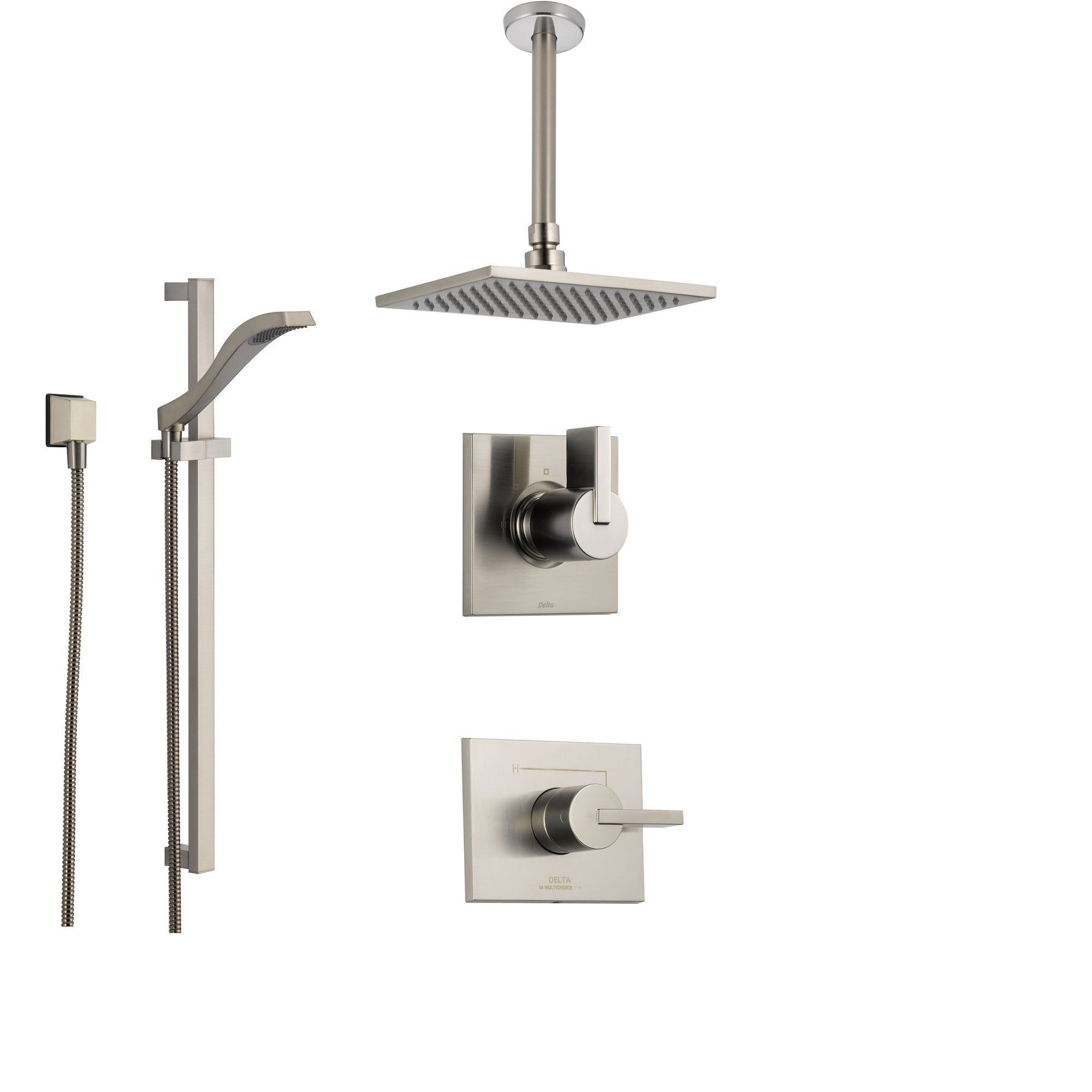 Delta Vero Stainless Steel Shower System With Normal Shower Handle