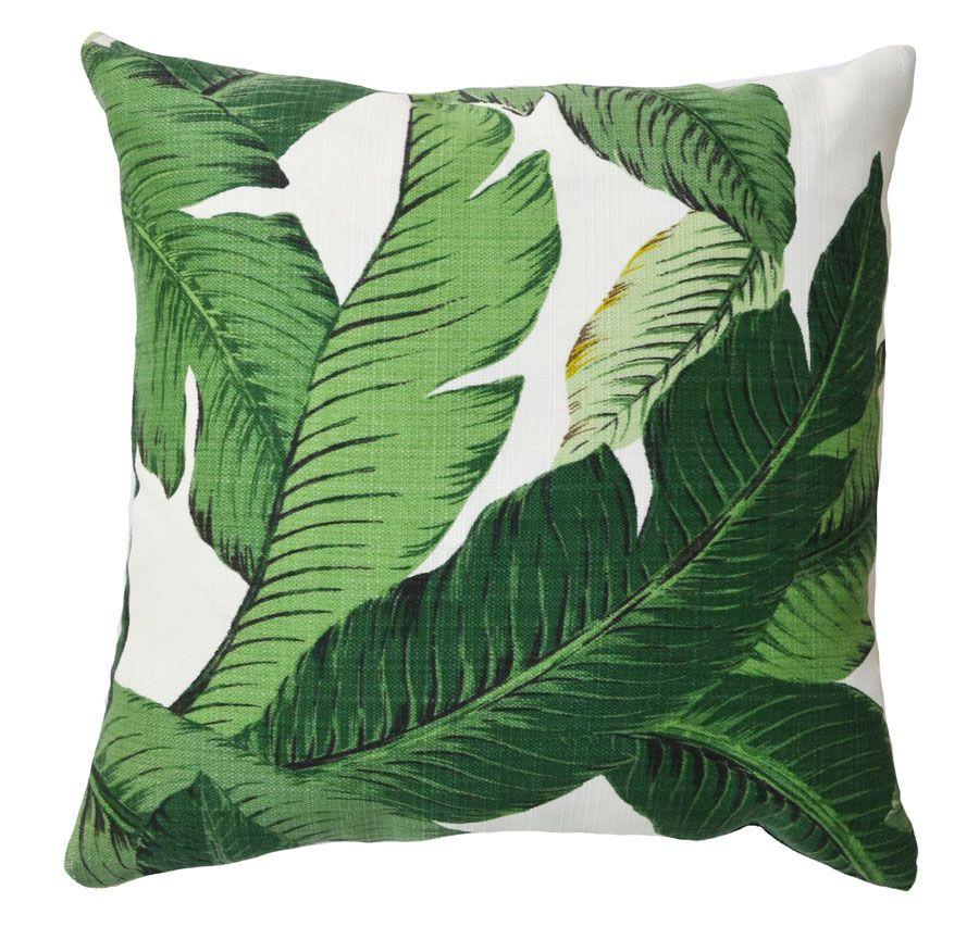Banana Palm Leaf Pillows