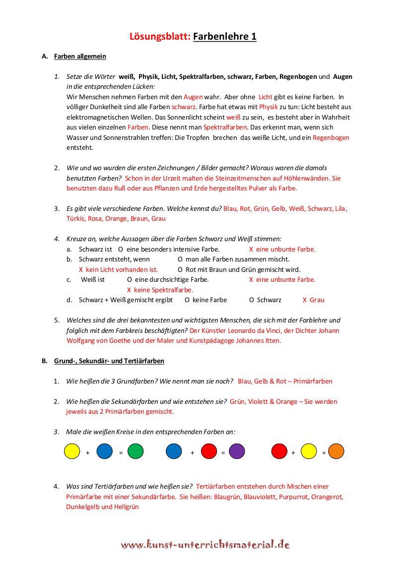 Farbenlehre Itten Grundschule Farbenlehre Farben Lehre Und