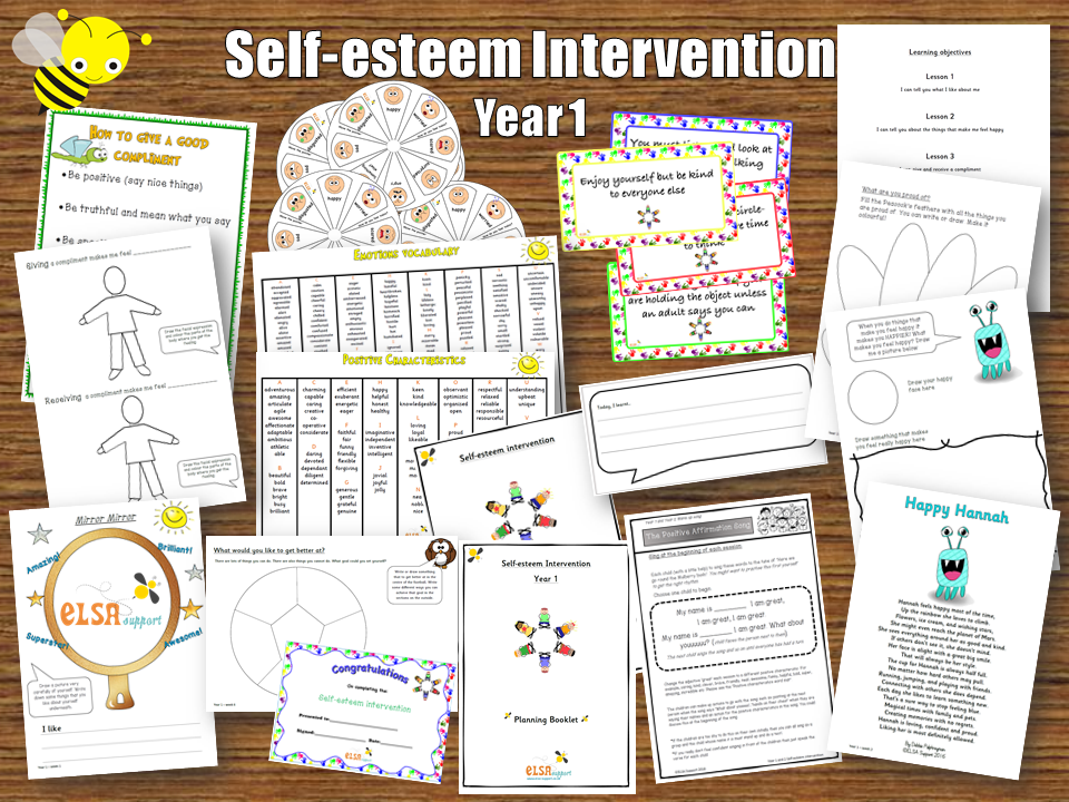 elsa support self esteem resilience year 1 6 session intervention elsa resources learning