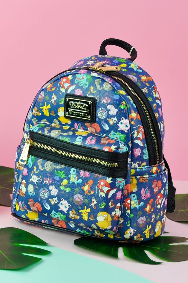 f579076de8ff Loungefly x Pokemon First Generation Print Faux Leather Mini Backpack