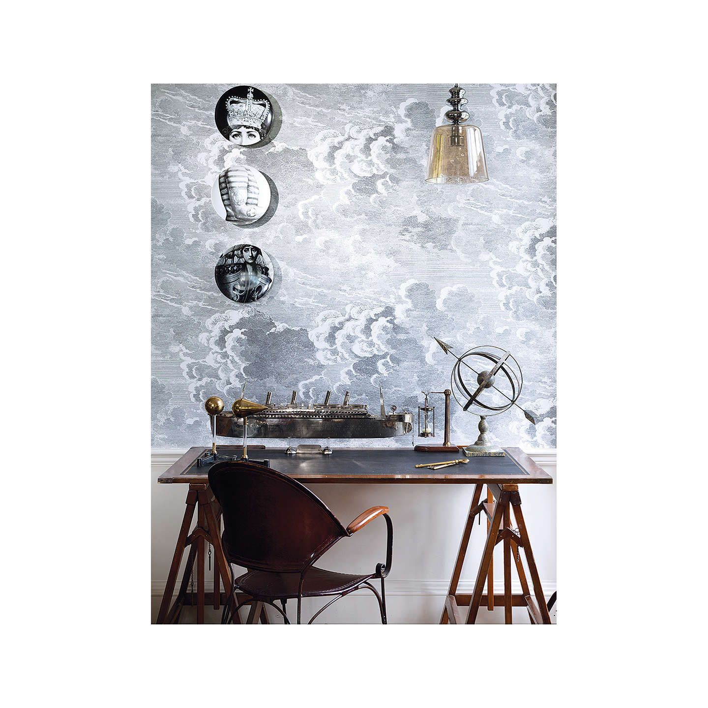 Cole & Son Nuvolette Paste the Wall Wallpaper Set, Pale