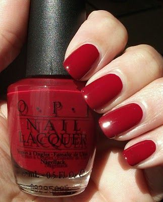 My favorite deep red nail polish.