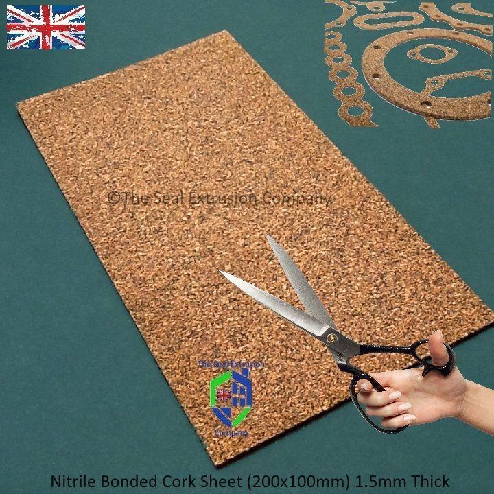 Cork Rubber Sheet Gasket Material Nitrile Bonded 1 5 X 200 X 100mm Cork Sheet Cork Material