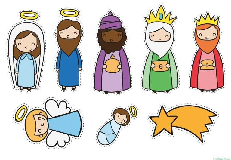 Figuras De Belén Para Pintar Portal De Belén Para Niños Web Del Maestro Manualidades Cristianas Pesebres Para Colorear Navidad Niños