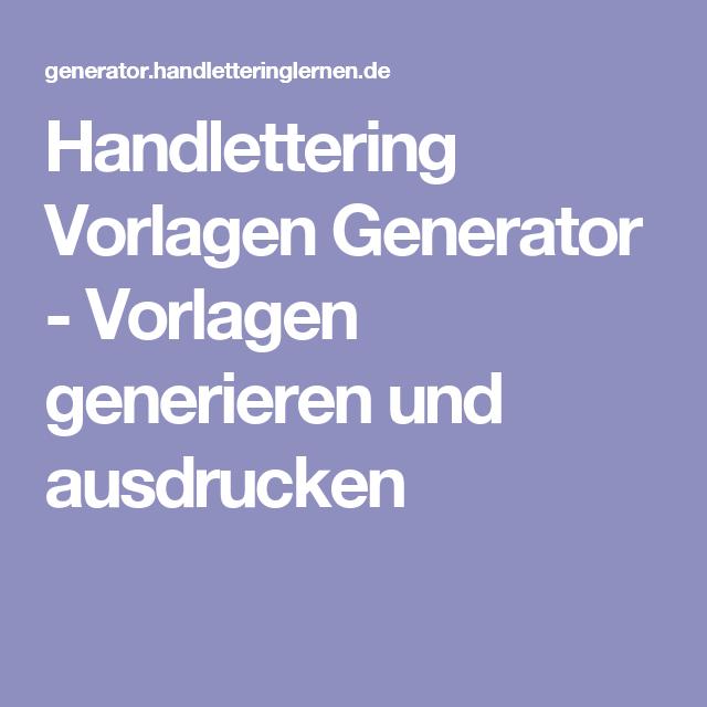 Handlettering Vorlagen Generator Vorlagen Generieren Und Ausdrucken Handlettering Vorlagen Schriftart Generator
