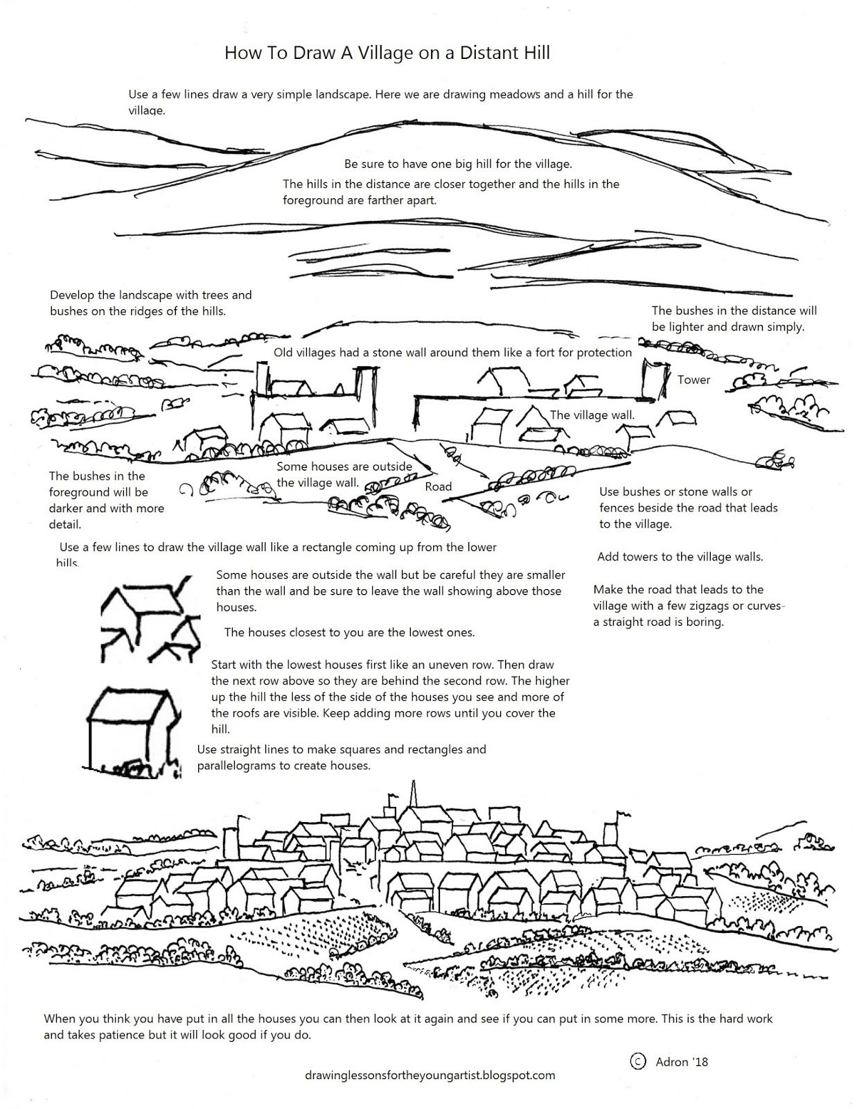 A How To Draw Art Lesson With A Printable Worksheet For