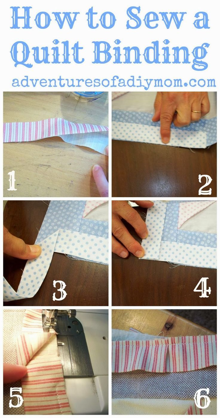 How to Sew a Quilt Binding | Costura, Colchas y Bloques