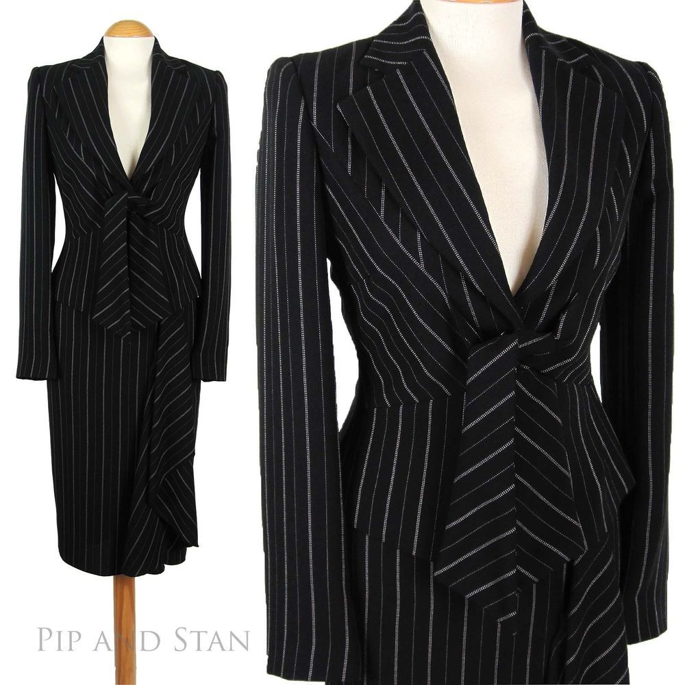 details about pencil skirt suit 40s 50s inspired black