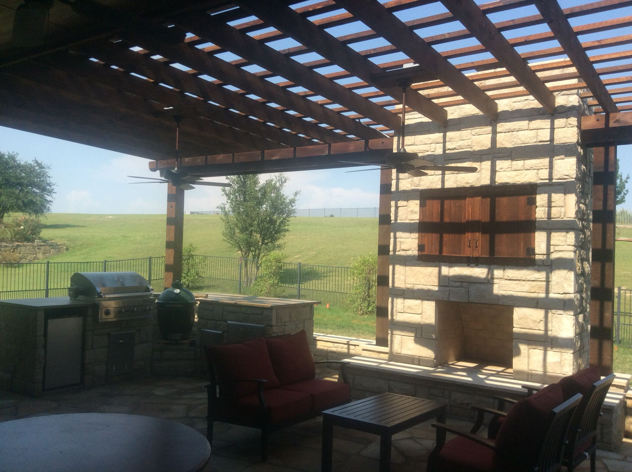 Beautiful Outdoor Living Area installed by GroundScape in ... on Dfw Complete Outdoor Living id=66112