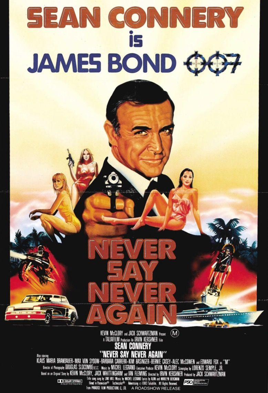 Sean S Last Turn As Bond In Never Say Never Again 1983 Bonde