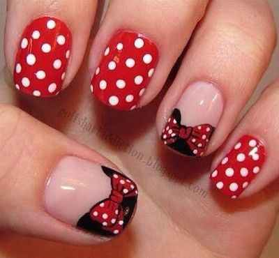 Minnie Mouse Pretty Nails Pinterest Minnie Mouse Mice And