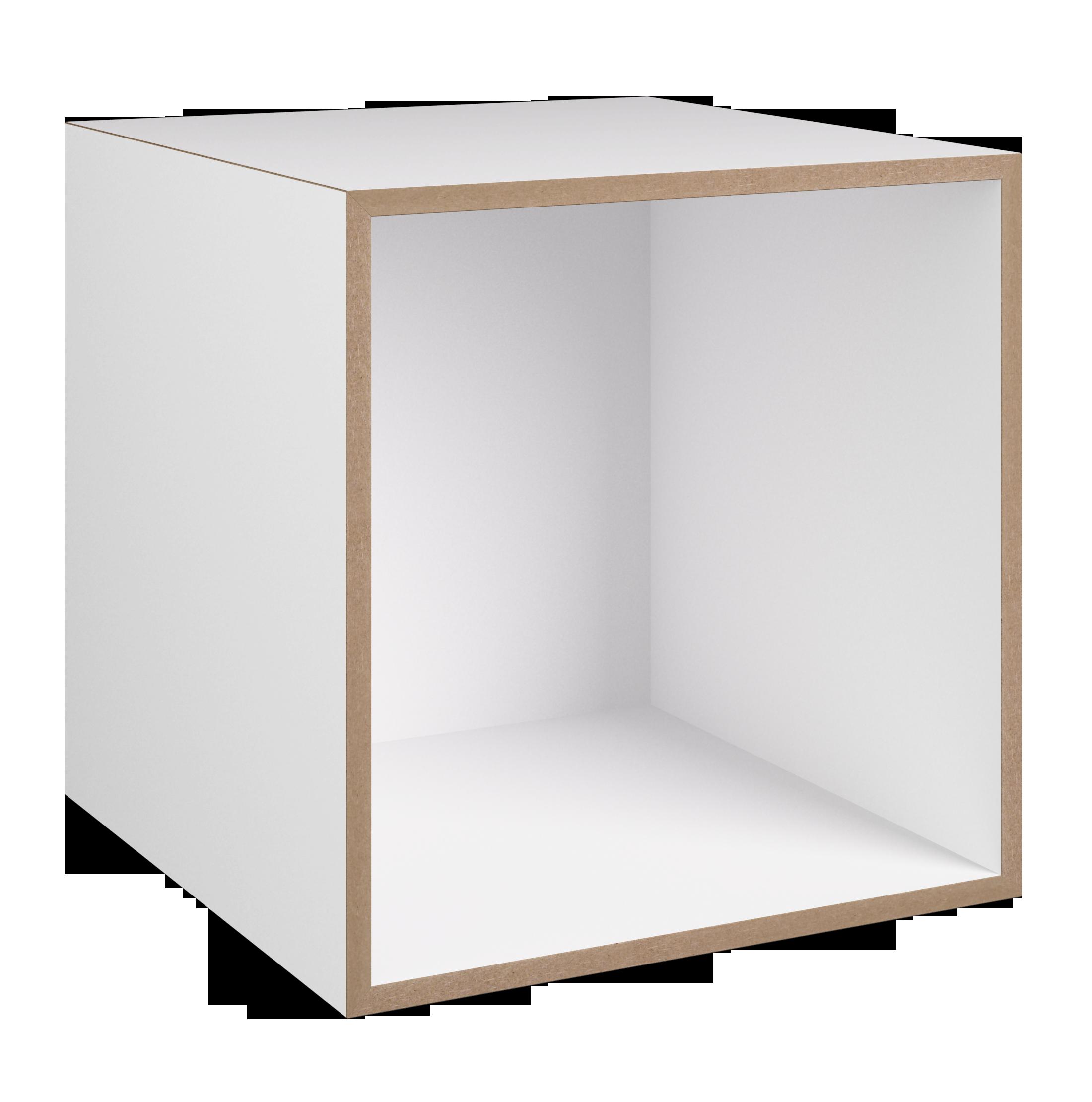Modul 1:1 weiß - stocubo Regalsystem, Würfelsystem, Würfel ...