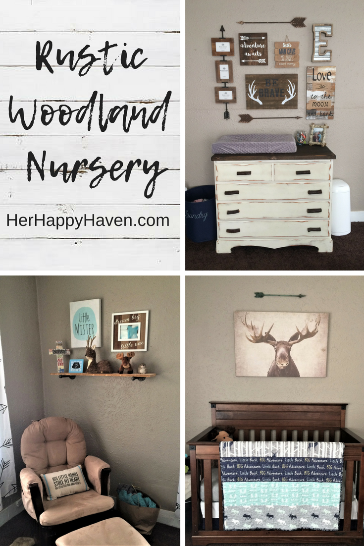 View More Photos Of This Rustic Woodland Themed Nursery Here Links To Where I Got Everything Inc Woodland Nursery Theme Rustic Boy Nursery Boy Nursery Themes