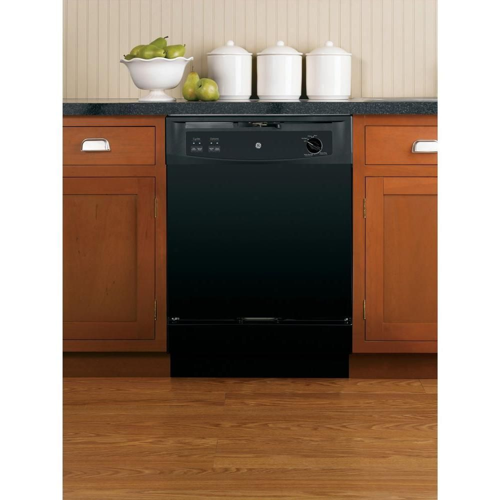 Ge Convertible Portable Dishwasher In Black 64 Dba Gsc3500dbb