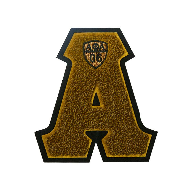 china wholesale custom letter A embroidery chenille