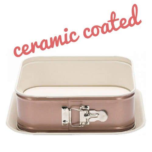 keramikbeschichtete rechteckige springform von patisse in dezentem rosa backform springform. Black Bedroom Furniture Sets. Home Design Ideas