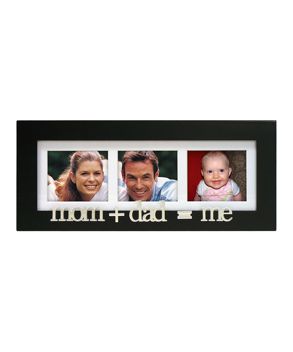Love this \'Mom Plus Dad Equals Me\' Frame by Malden on #zulily ...