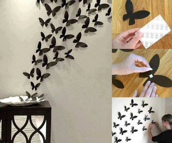 DIY Butterfly Wall Art Diy Crafts Craft Ideas Easy Idea Home For The Crafty Decor Decorations