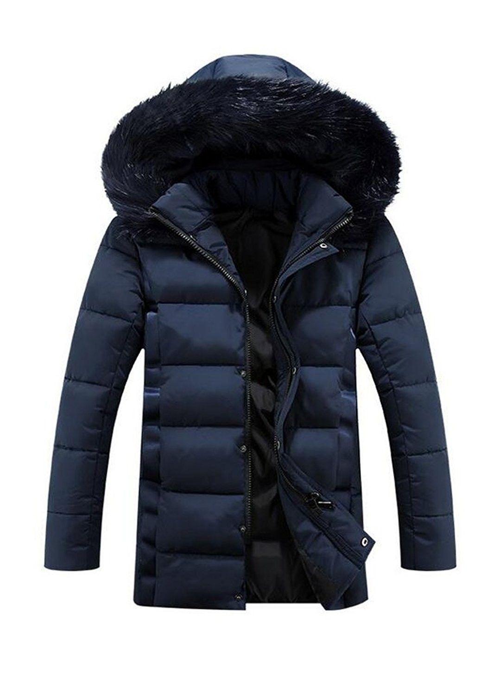 Men S Winter Warm Down Coat With Fur Hood Puffer Jacket Style 1 Navy Blue C412o4zdfnl Puffer Jacket Style Jacket Style Fur Hood Coat [ 1500 x 1077 Pixel ]