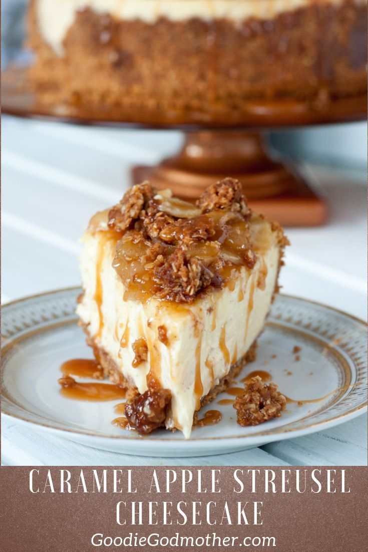 Caramel Apple Cheesecake - Goodie Godmother Streusel Topping