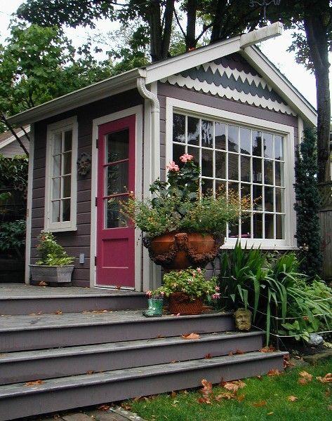 House · Backyard Shedquarters Home Office Cottage Shed ...