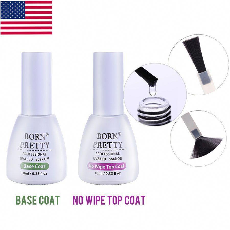 Born Pretty Uv Led Gel Nail Polish Top Coat Base Coat No Wipe Prep And Finish Nail Polish Gel Nails Uv Gel Nails