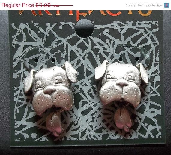 Jj Dog Wagging Tongue Earrings