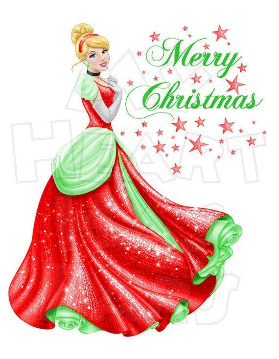 Cinderella Christmas.Cinderella Christmas Digital Iron On Transfer Clip Art