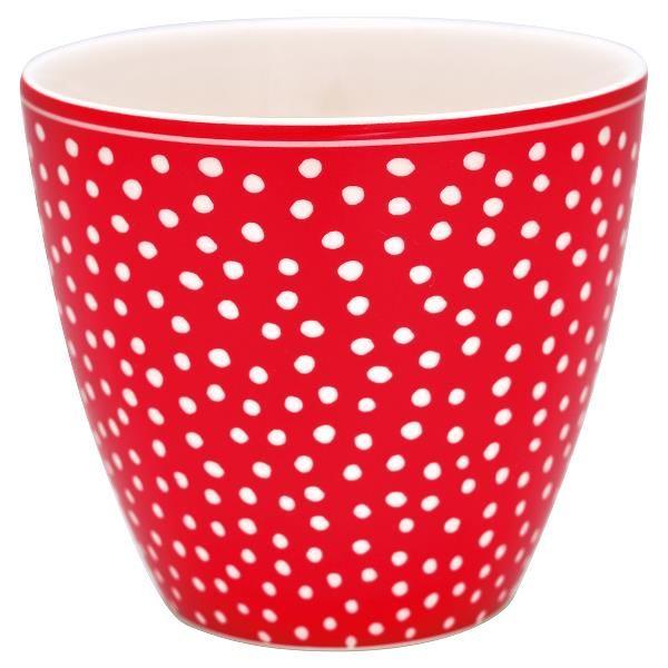 Tazza Da Latte Dot Rossa Greengate Realizzata In Ceramica Su Sfondo
