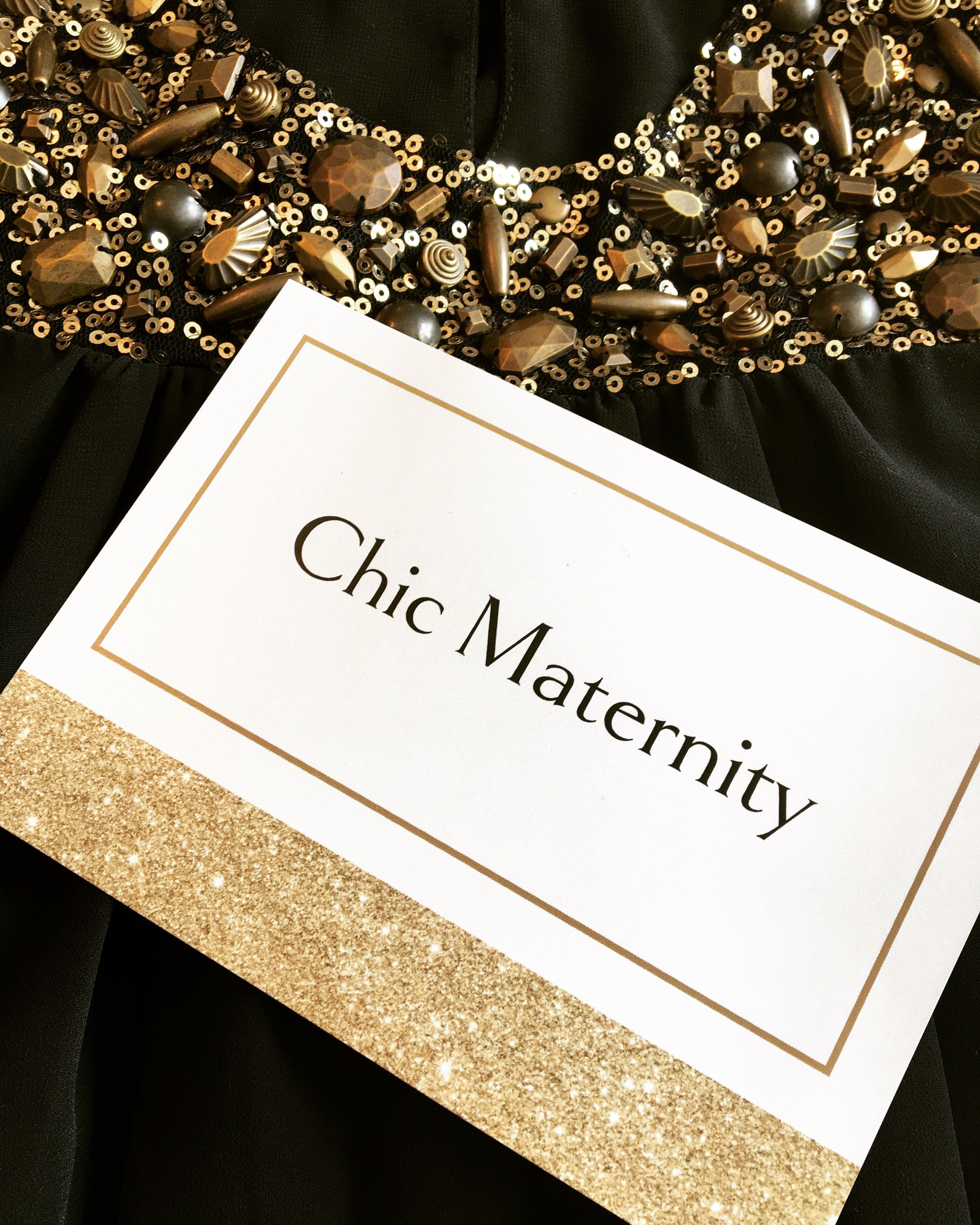 Add some sparkle to you bump embellished maternity dress