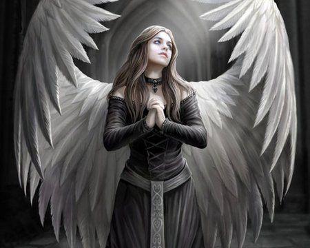 angel girl . fallen anime