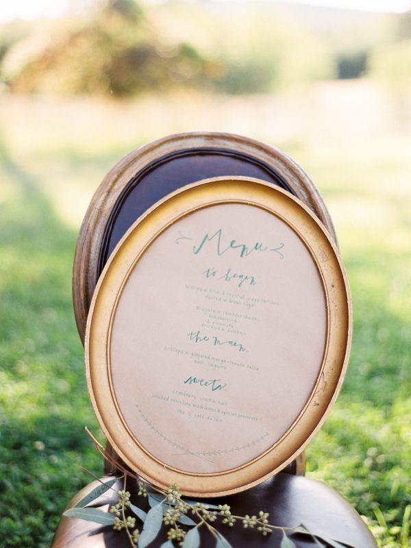 vintage wedding menu ideas http://www.weddingchicks.com/2013/10/01/romantic-wedding-inspiration/