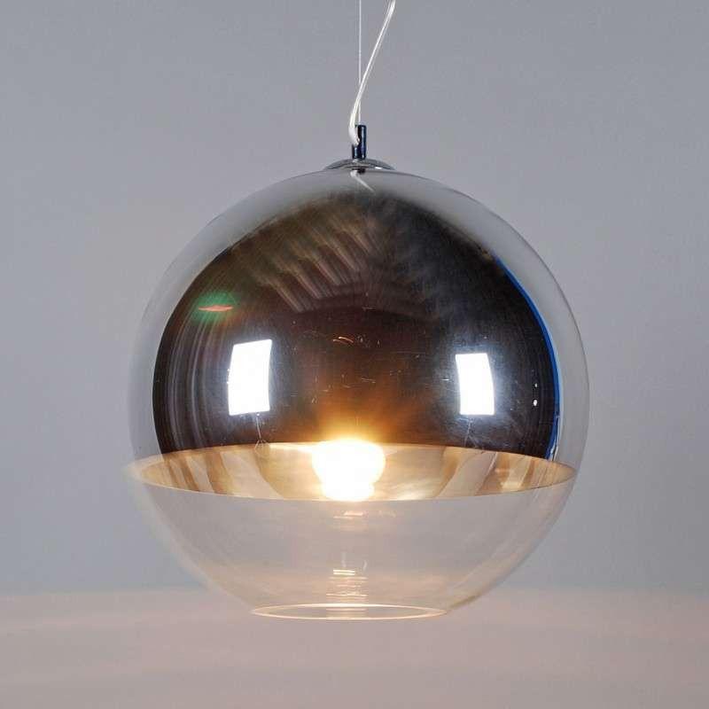 pendelleuchte ball 40 silber kugelleuchten lampen. Black Bedroom Furniture Sets. Home Design Ideas