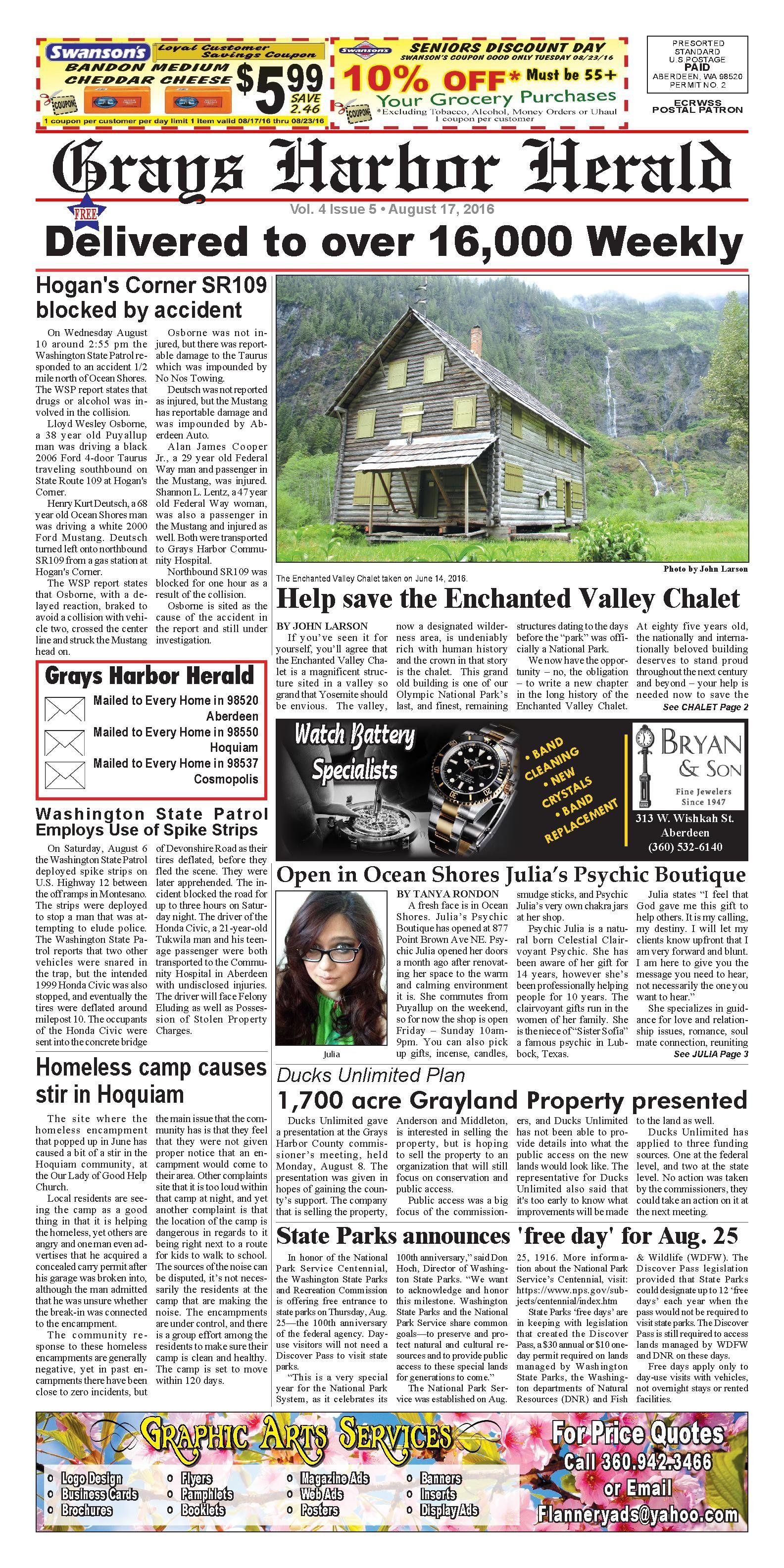 Grays Harbor Herald August 17, 2016 | #SWWA in the news