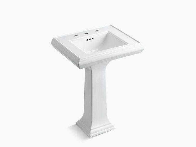 "l 24"", h 34-3/8"", w 19-3/4"" classic 24"" memoirs pedestal sink with, Badezimmer ideen"