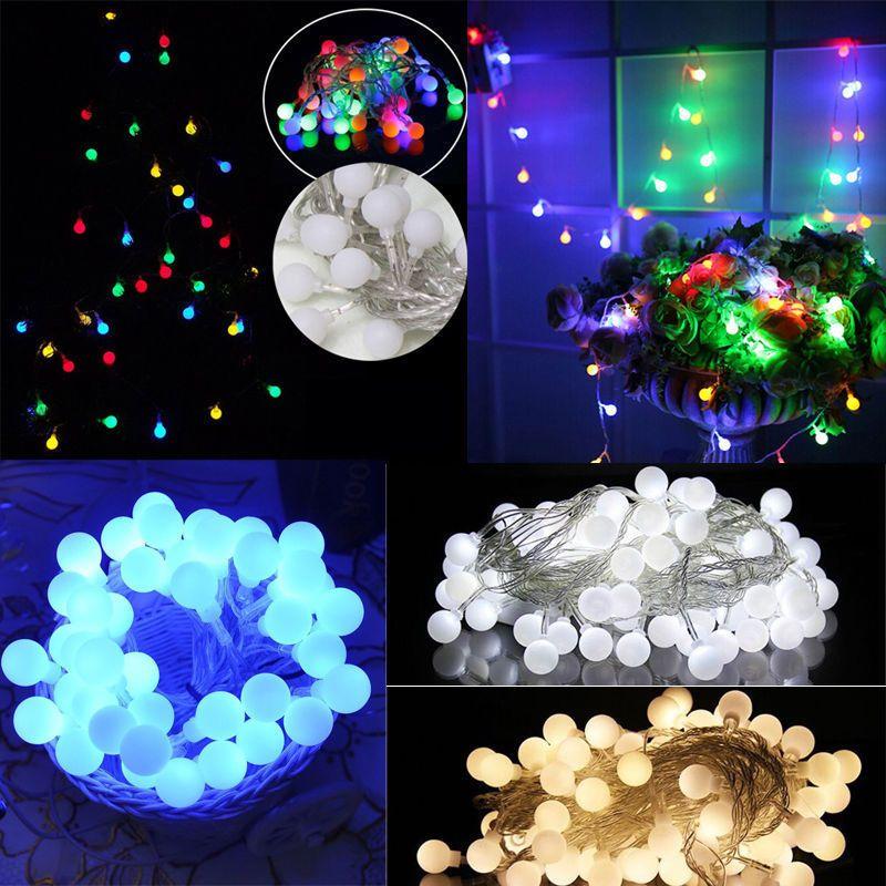 099 GBP - 35M 40Led Globes Balls Christmas Wedding Party Decor