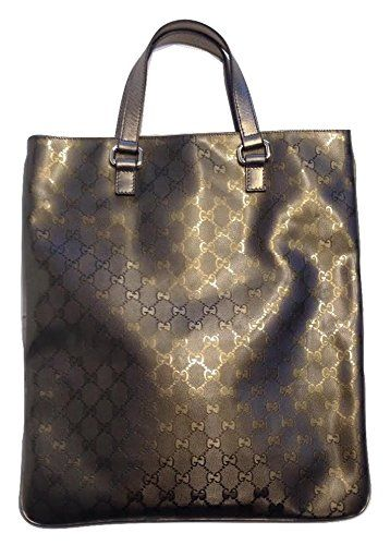 2caa81c4696 Gucci GG Guccissima Gunmetal Nickel Patent Leather Tote 272347 Gucci ...