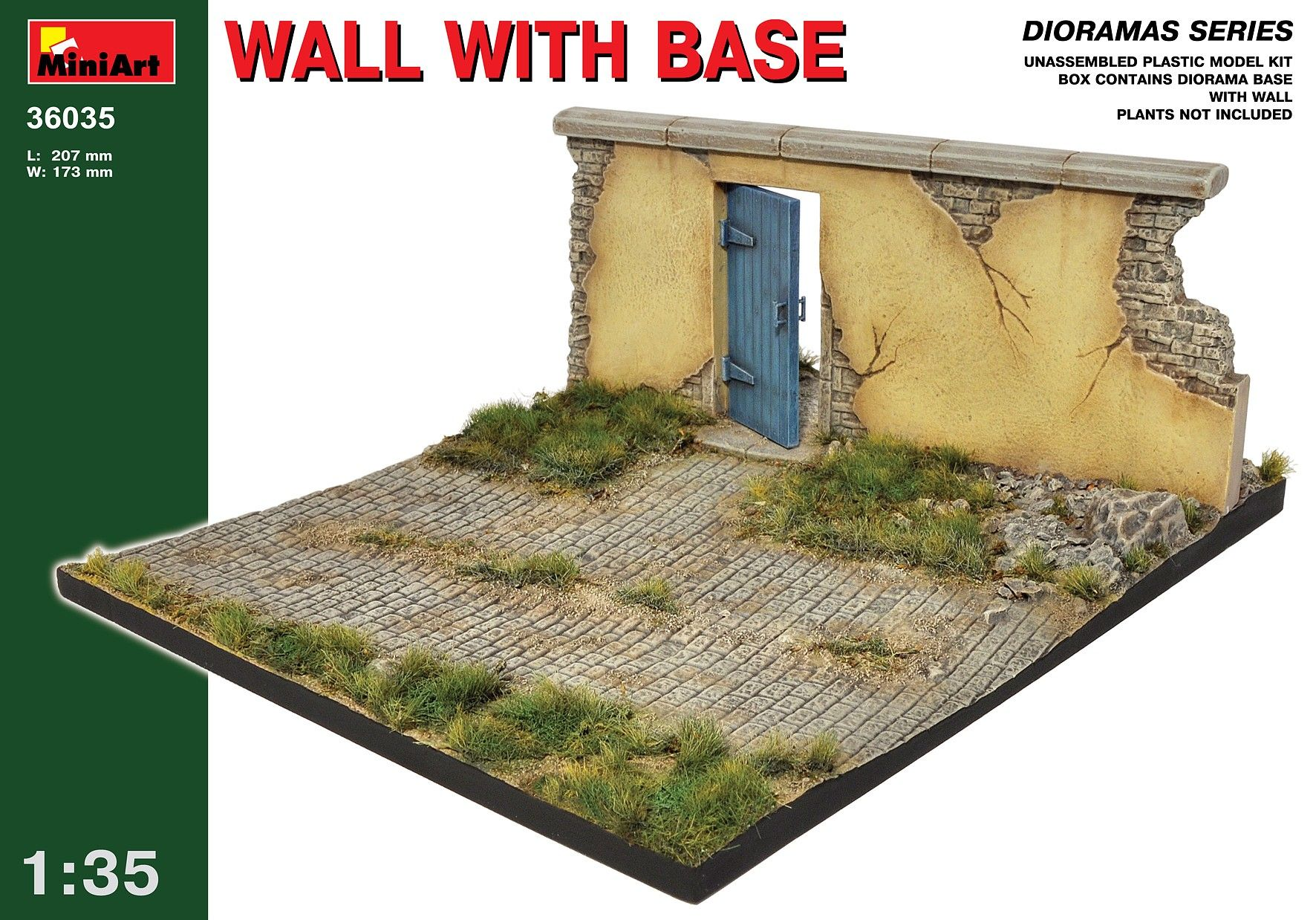 1:35 Wall with Base - Buildings and facilities - Civil scale