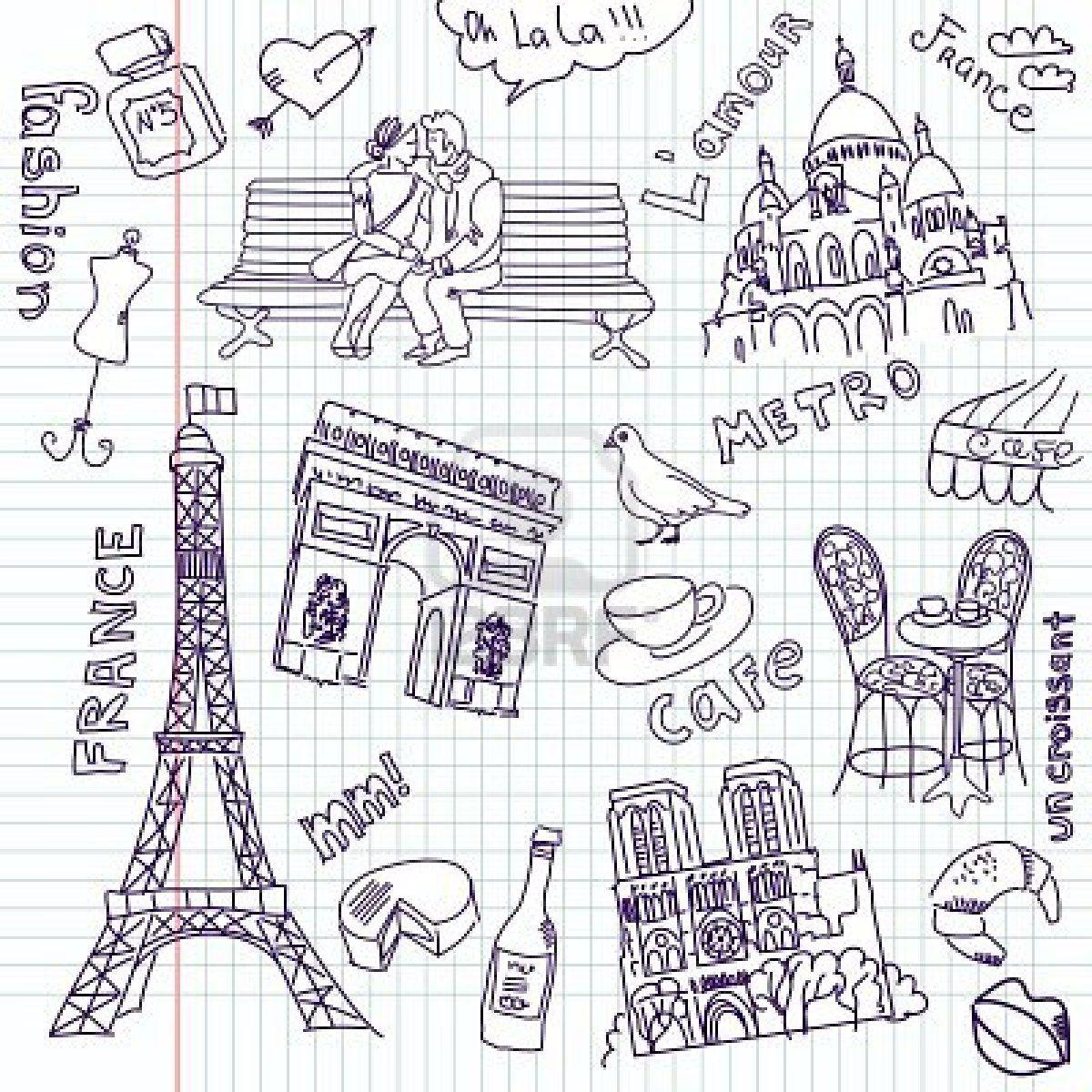Pin Van Meena Anand Op Paris Magnifique Parijs Tekening Doodle Ideeen Krabbel Kunst Tekeningen