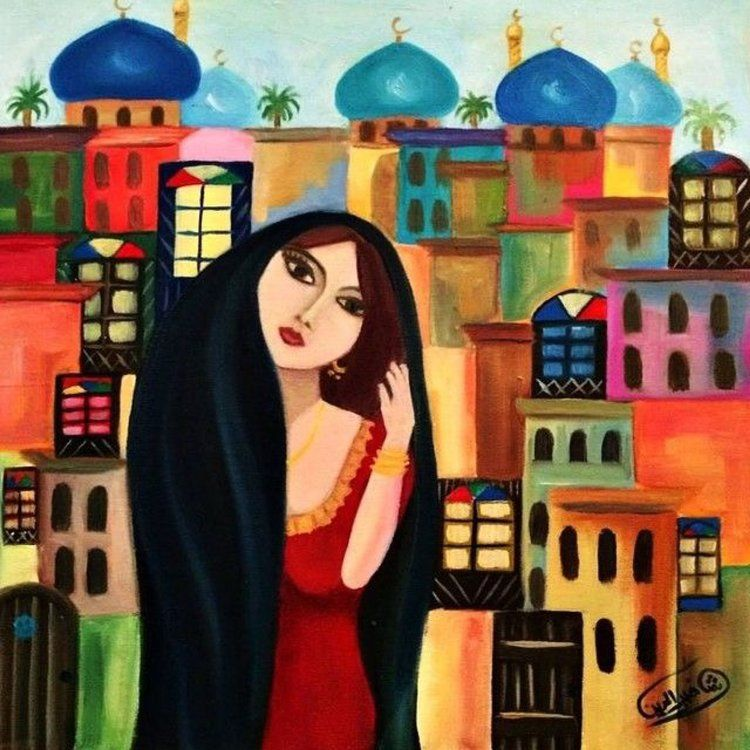 Baghdad Girl Art Print By Mudheher X Small Art Egyptian Painting Art Painting