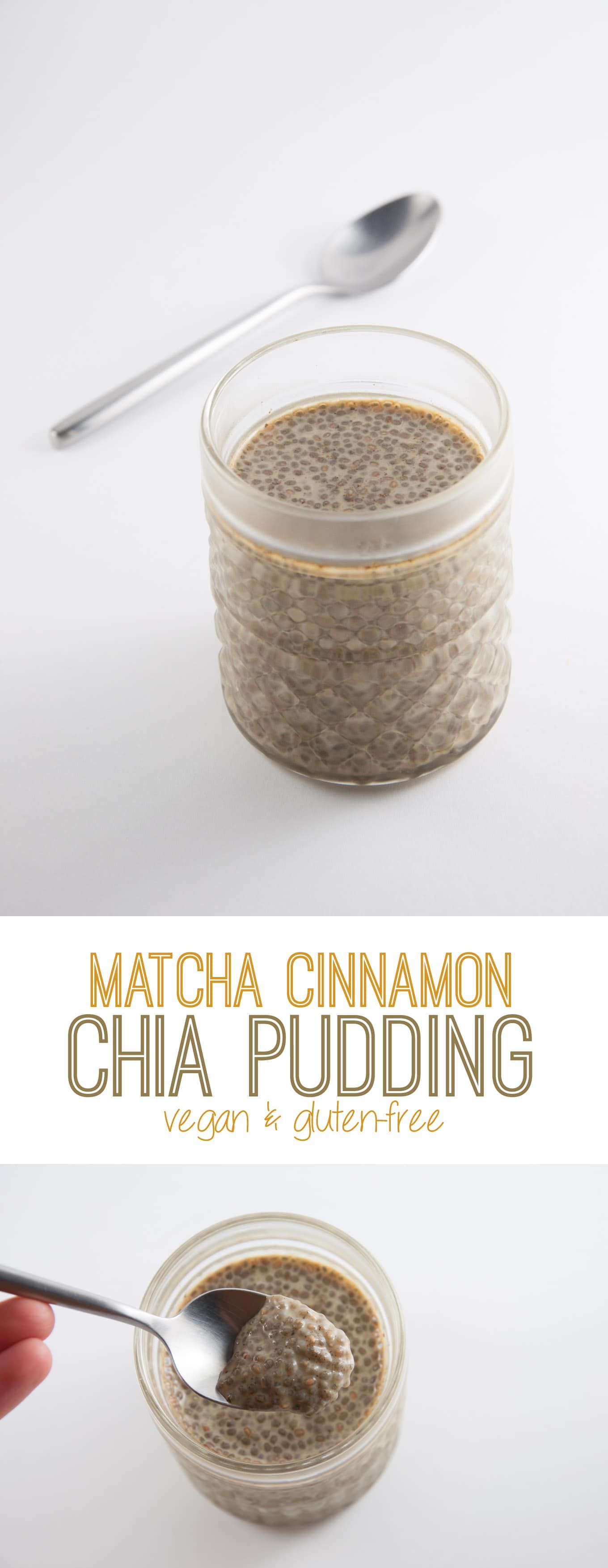 This Matcha Cinnamon Chia Pudding is perfect for breakfast! It fills you for hours without making you feel super stuffed.
