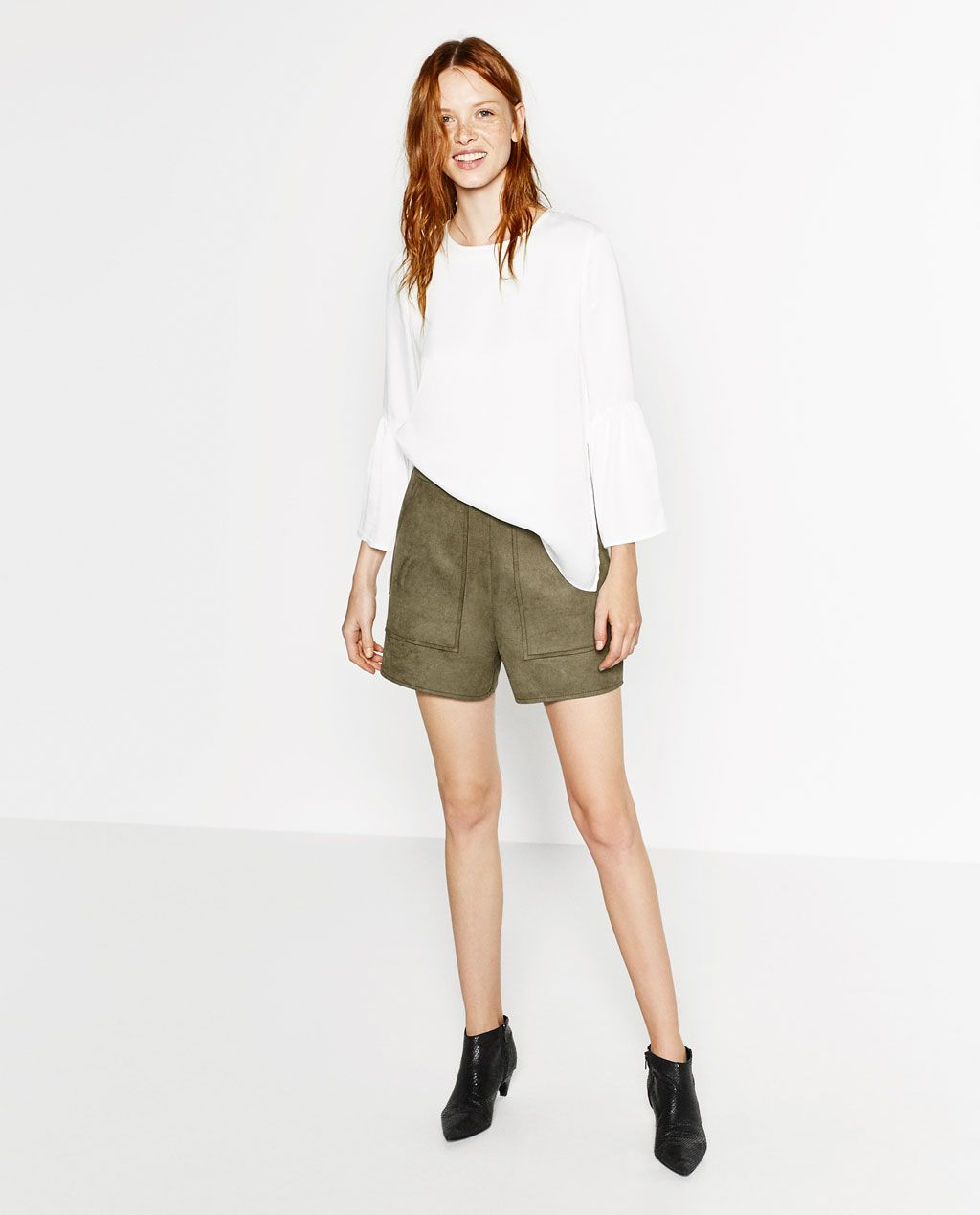 32f3b269f5 Image 1 of FAUX SUEDE-FEEL SHORTS from Zara | STITCH FIX | Shorts ...