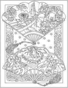 Welcome To Dover Publications Creative Haven Vintage Hand Fans Coloring Book