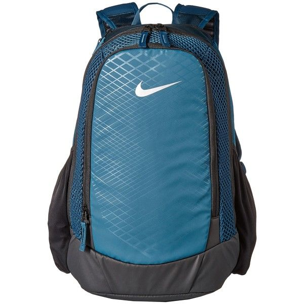 Nike Vapor Speed Training Backpack (Space Blue Black Metallic Silver)...  ( 65) ❤ liked on Polyvore featuring bags, backpacks, blue backpacks, water  ... de0b747a1c
