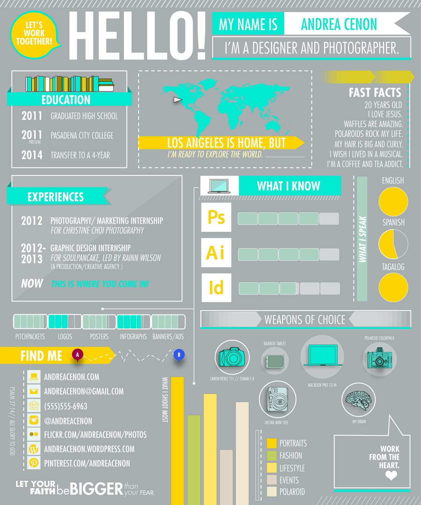 infographic resumes - check out her portfolio by clicking the pic ...